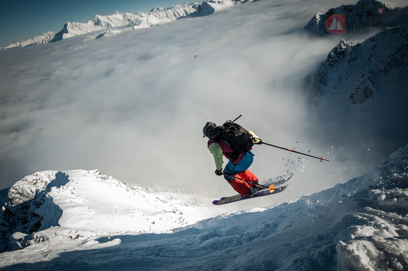 Shots from the Freeride World Tour stop  Julien Lopez PHOTO: D.CARLIER/FWT